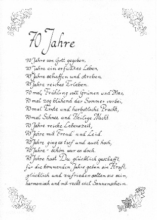 pin geburtstag 70 gedicht on pinterest