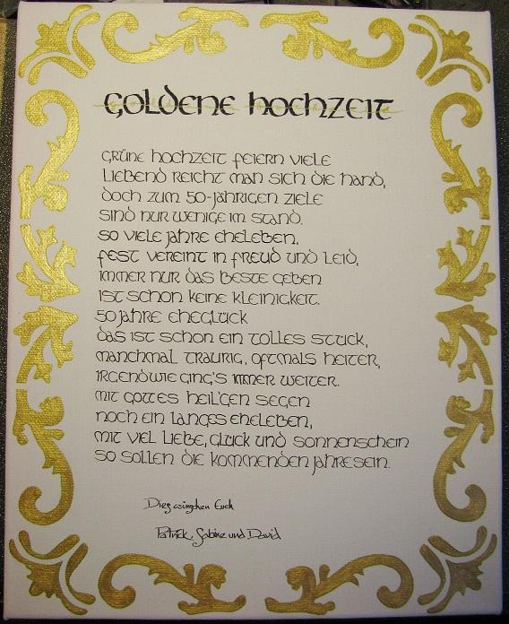 Goldene hochzeit karte gedichte alle guten ideen ber - Ideen zur goldenen hochzeit der eltern ...
